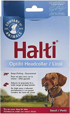 HALTI OPTIFIT Pet dog head collar and link. Stops pulling, training. Black S/M/L