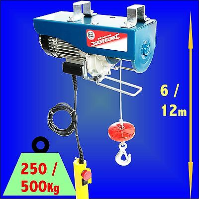 500kg Electric Hoist 950w Winch Lifting Scaffold crane block ratchet garage lift