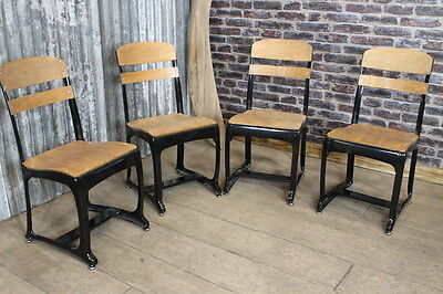 Industrial Vintage Retro Style Dining Chairs The Eton With Black Frames