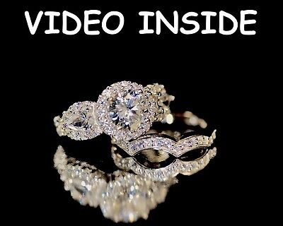 4.98CT Round Cut Sterling Silver Finished Engagement Ring