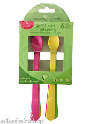 Green Sprouts Sprout Ware Infant Spoons, 6 Pack