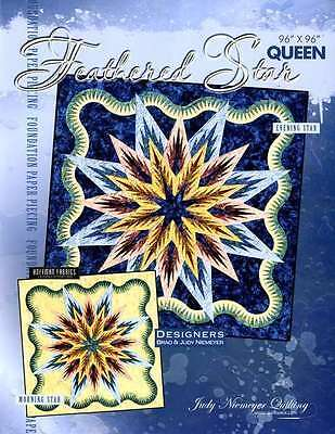 Feathered Star Foundation Paper Pieced Judy Niemeyer Queen Quilt Pattern