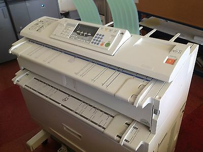 "Ricoh Savin 2400WD / Aficio 240W 36"" wide Plotter, Scanner, & Copy plans w/ cpu"
