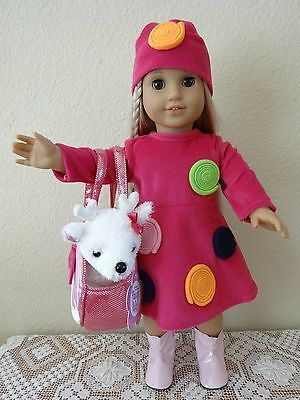 """NEW-DOLL CLOTHES-Lot #153 Dress/Hat/Boots/Purse fit 18"""" Doll such as AG Doll"""