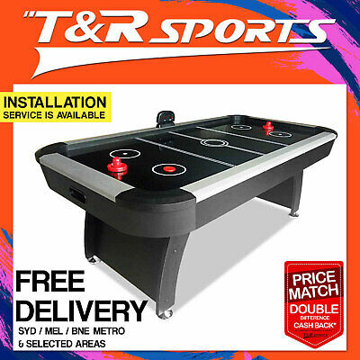 7FT Black Air Hockey Table with Score Counter for Game Room AU