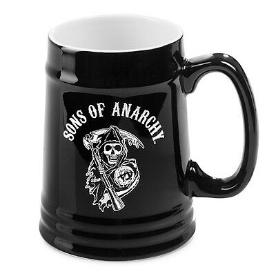 Sons Of Anarchy CERAMIC STEIN Man Cave Fathers Christmas Gift BLACK REAPER