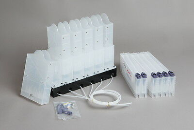 Bulk Ink System for 2 Liter Ink Pouch Stand + (Single CMYKLCLM) without chips