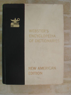 Original Vintage- Webster's  Encyclopedia Of Dictionaries- New American Edition