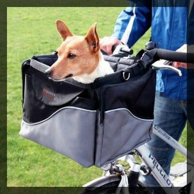 Dog Bike Basket and Carrier in one Shoulder Strap Ride Walk Small Dog Transport
