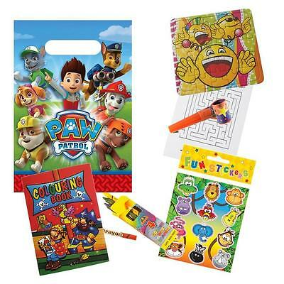 Childrens Pre Filled Paw Patrol Party Bags Ready Made Kids Birthday Party Favour