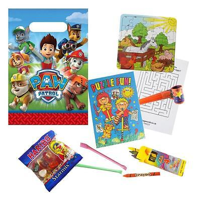 Paw Patrol Pre Filled Party Bags Childrens Ready Made Birthday Loot Favours