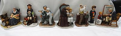Lot of 7 Vintage Norman Rockwell Figurines