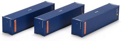 Athearn HO Scale 40ft Shipping Containers Raffles (Blue/Orange) 3-Pack