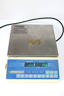 Coin Scale Sprint Quip Coin counter Model K15 with digital display panel
