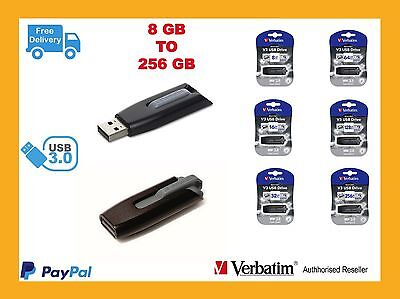Reseller Price Verbatim Store n Go V3 USB Thumb Flash Drive 8-256gb Free Ship