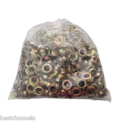 500pcs 4#(10.5mm) Yellow Iron Grommet Eyelet Die For Hand Press Grommet Tool