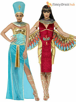 Ladies Egyptian Queen Goddess Isis Ancient Egypt Cleopatra Costume Fancy Dress