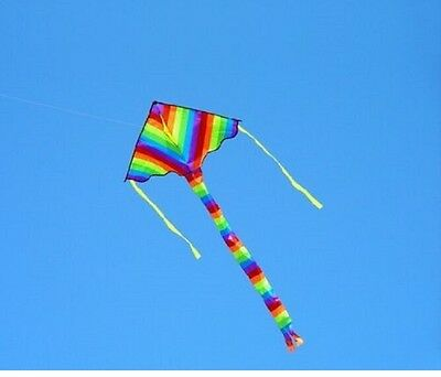 kite Childrens kids Easy to Fly Single Line kite 1.2mtr rainbow Colour  Design