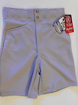 "NOS Vtg '90's Rawlings Men's Coaches Shorts Size Small 30"" Waist Gray USA"