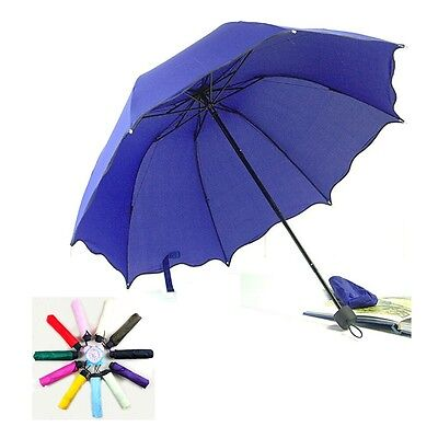 Folding Windproof Anti UV Clear/Rain Compact Parasol Lacework Princess Umbrella