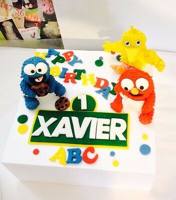 24 Pce 3 7cm Fondant Edible Elmo Big Bird Cookie Monster Baby Cake Topper