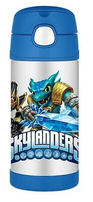 Skylanders Thermos Stainless Steel Kids 12oz Insulated Funtainer Straw Bottle