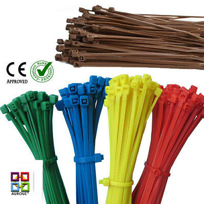 Nylon Plastic Cable Ties Zip Tie Wraps strong Coloured and Various Sizes