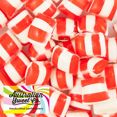 1kg Peppermint Humbugs Rock Candy bulk lollies - Wedding Favours Party