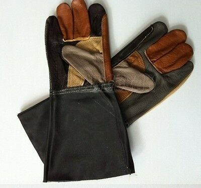 1 pair Quality Genuine Leather Gloves FOR Leather Craft Working Welding gloves