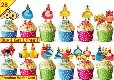 56 Twirlywoos Birthday Cup Cake Fairy Party Toppers Rice / Wafer Edible STAND UP