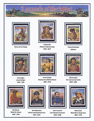 Legends of the West Stamps, Mint  Never Hinged, US Scott 2869