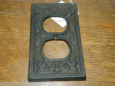 French Decorative Cast Iron Rustic Finished Electric House Outlet Plate Cover