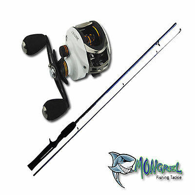 New Baitcaster Rod & Reel Combo 1.7 meter rod Bait Caster  great for kayaking RH