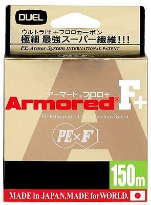 DUEL ARMORED F+ 150M [GY,LB,WOM] Fishing line From Japan