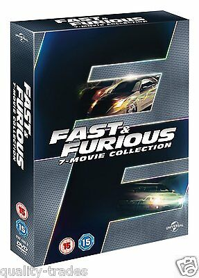 ❏ Fast and Furious 1 - 7 DVD Collection Complete Set ❏ 1 2 3 4 5 & 6 + 7