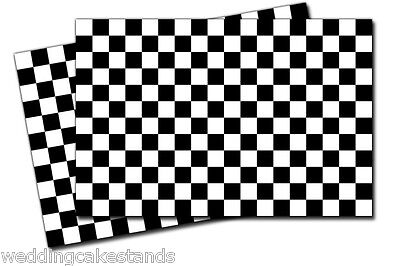 "Checkered FLAGS (2x) 7"" wide VINYL DECAL STICKERS Car Auto Racing flags - 2x 739"