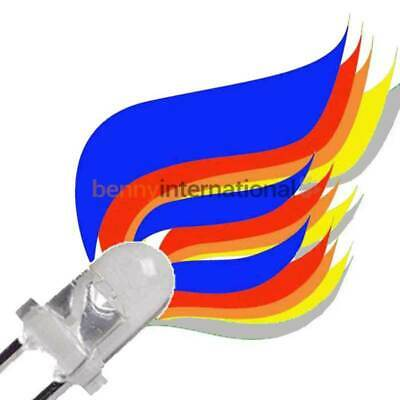 10x 3mm FLICKER LEDS Yellow Orange Red Blue Candle Gas Model Railway Flame