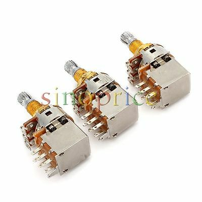 emg short split shaft 25k guitar potentiometer pot • 6 00 picclick 3pcs a500k potentiometer split shaft push pull guitar control pot