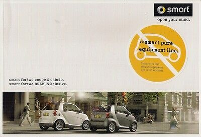 Smart ForTwo 2008-09 UK Market Brochure Coupe Cabriolet Pulse Passion Brabus