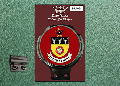 Royale Classic Car Badge & Bar Clip COUNTY of DERBYSHIRE B1.1064