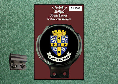 Royale Classic Car Badge & Bar Clip COUNTY DURHAM B1.1069