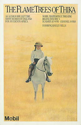 Original Vintage Poster PBS Flame Trees of Thika Horse Hayley Mills Movie 1980s