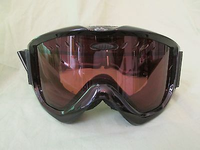 a50fe513327 Smith Snow Goggles Gloss Black with Amber Lens Carrying Bag Included  Snowboard