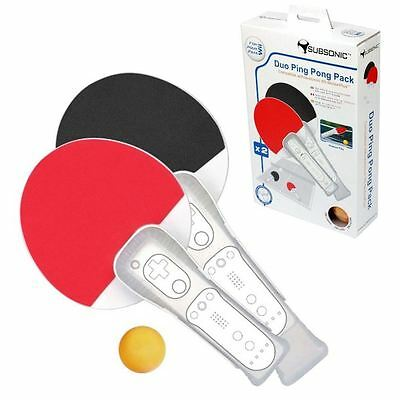 Subsonic Duo Ping Pong Table Tennis Racket Remote Controller For Nintendo Wii