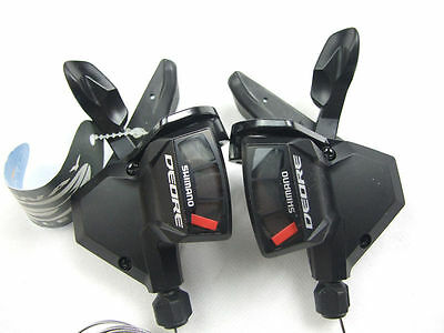 Shimano Deore SL-M590 3x9Speed RapidFire Shifters Set MTB Bike Shift Lever Black