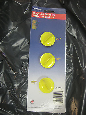 Scepter 08499 3-PIECE JERRY CAN STOPPERS self-vented fuel cans gas can parts