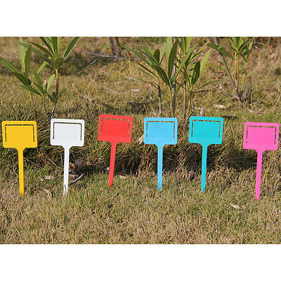10Pcs Colorful Garden Plant Tags Vegetable Lable Market Ties Marker Support Tool