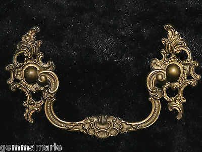 French Recoco Chippendale Ornate antique Hardware dresser cabinet drawer pull