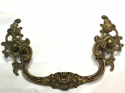 Antique French Recoco Chippendale larger Hardware dresser cabinet drawer pull