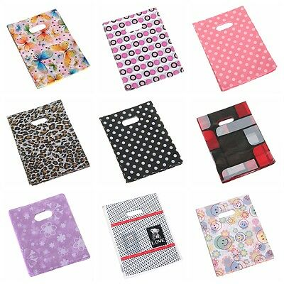 100x Bulk Pretty Pattern Plastic Gift Packaging Shopping Carrier Bags 15*20cm